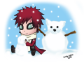 Казекаге лепит снеговика